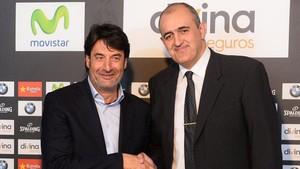 Jordi Villacampa deseó toda la suerte del mundo a Juanan Morales, que toma el mando del Joventut