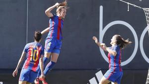El Barça derrotó al Valencia en el último partido entre ambos equipos gracias a un solitario gol de Marta Unzué
