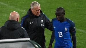 Kanté se lesionó el pasado fin de semana con Francia en Bulgaria