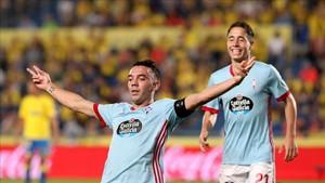 Iago Aspas firmó un hat trick ante la UD Las Palmas