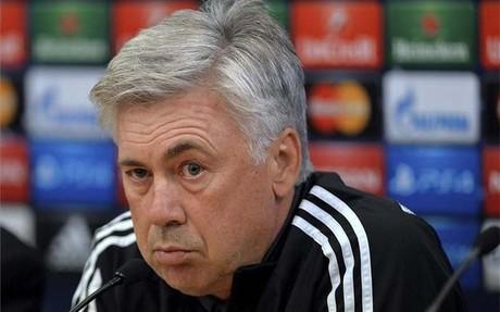 Ancelotti, durante su rueda de prensa de este martes en Liverpool