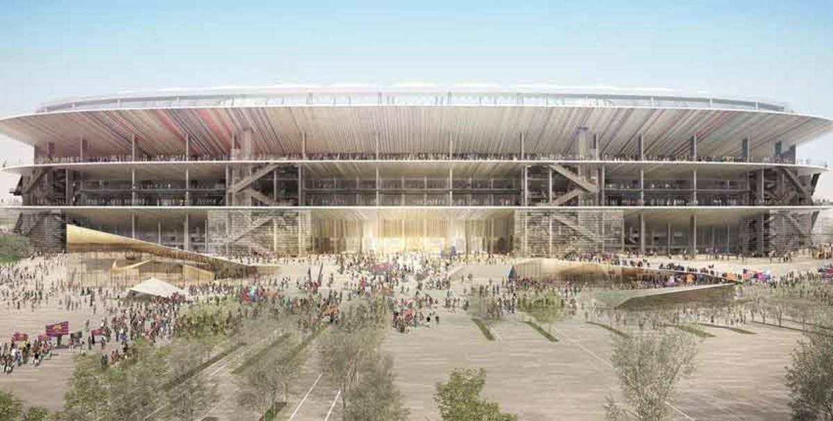 Las caracter�sticas del Nou Camp Nou, con capacidad para 105.000 espectadores