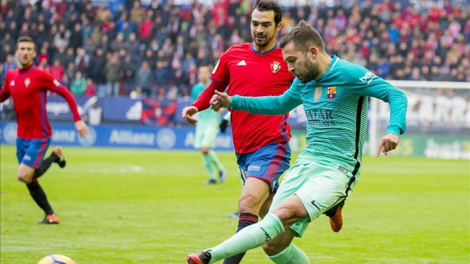 e7da26814f Barcelona defender Jordi Alba has claimed there is a campaign against him  after starring in his side s win over Osasuna.