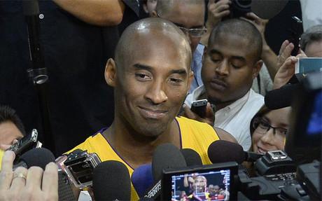 Kobe Bryant, en el Media Day de los Lakers