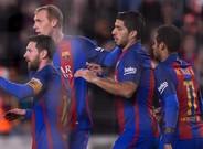 Leo Messi abrió el marcador tras una gran asistencia de Luis Suárez