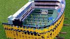 La maqueta-futbol�n representa a la perfecci�n la Bombonera de Boca Juniors