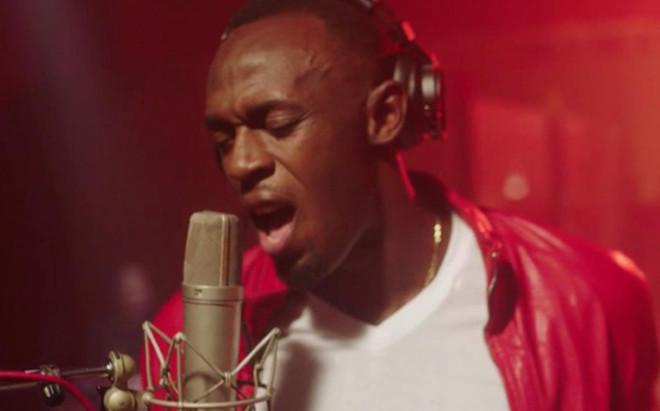 Usain Bolt en el v�deo de su primer 'single' que espera convertir en un �xito de ventas
