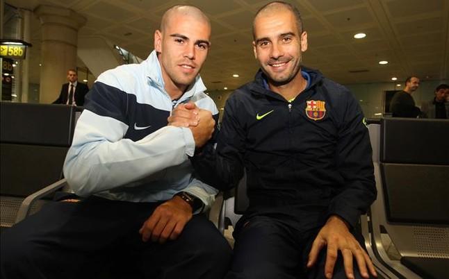 Vald�s podr�a volver con Guardiola a Manchester