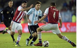 Messi, en su duelo ante Paraguay