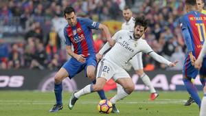 Busquets hizo un gran partido ante el Real Madrid