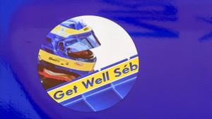 Sticker en el monoplaza de Fernando Alonso con el que buscará la pole en Indianápolis