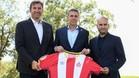 Ferran Soriano, Delfí Geli y Pere Guardiola hicieron oficial el acuerdo