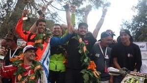 El podio de las 24 horas de resistencia de la Vall del Tenes