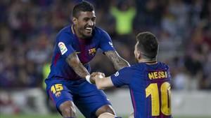 Paulinho y Messi, dos de los jugadores que más cuidan la nutrición en sus carreras