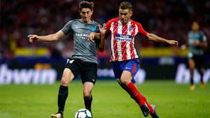 Álex Mula, en acción contra el Atlético