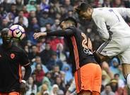 Con este remate de cabeza, Cristiano adelantó al Real Madrid