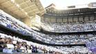 La grada del Santiago Bernabéu durante un Madrid-Barça
