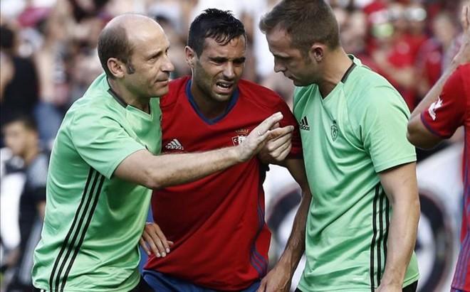 Javier Fla�o se lesion� de gravedad el s�bado en el Sadar ante la Real