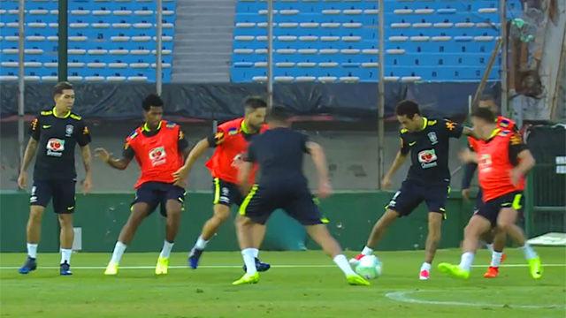 El Neymar contra todos del entrenamiento de Brasil