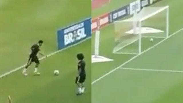 El gol imposible de Neymar en el entrenamiento