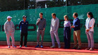 Andy Murray durante su visita a la Academia Sánchez-Casal