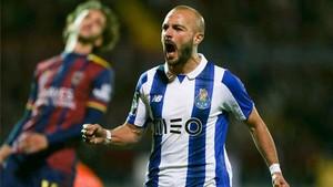 André, celebrando su gol al Chaves