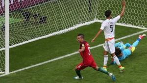 Pepe, celebrando el gol que al final fue anulado