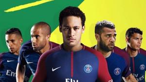 Neymar, con la camiseta del PSG en un montaje de Esporte Interativo
