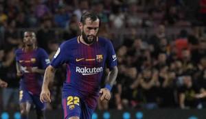 Aleix Vidal volvió a jugar minutos con el Barça