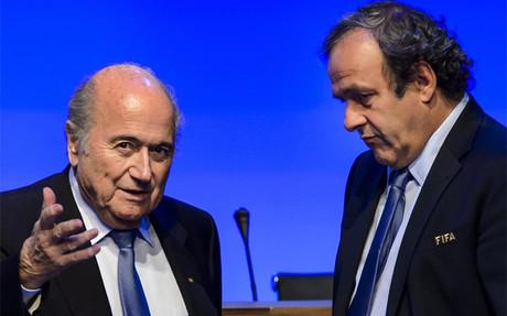 Blatter junto a Platini