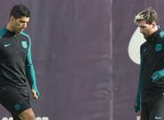 El entrenamiento del FC Barcelona previo al Barça - Borussia Mönchengladbach