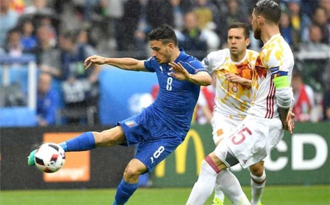 Italia acorral� a Espa�a al inicio del partido