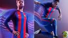 Piqu� y Neymar, con la nueva camiseta del FC Barcelona