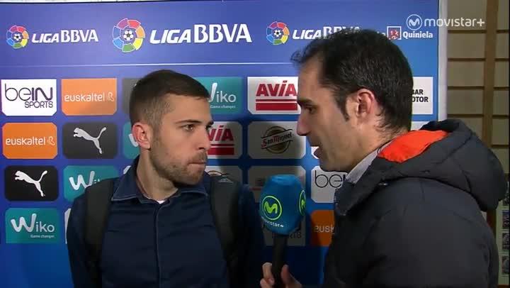 """Jordi Alba: """"El secreto de este equipo es que nos llevamos muy bien"""""""