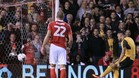 Lucas Pérez fue traspasado al Arsenal, con el que ha marcado un gol, de penalti