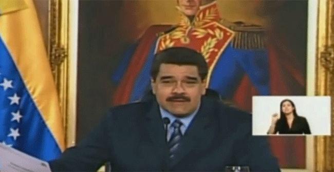 """Nicol�s Maduro interrumpe su discurso y grita: """"Viva Messi, viva Catalunya"""""""