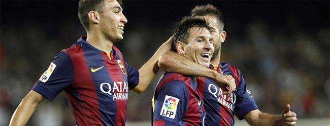 Leo Messi y Munir marcan 3 goles ante el Elche