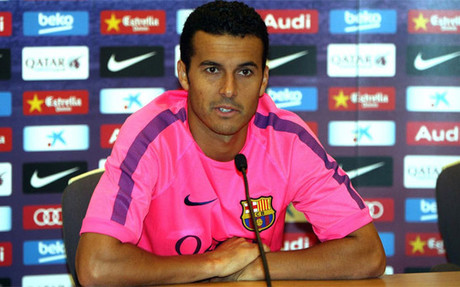Pedro in front of the press