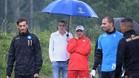 Sarri, entrenador del N�poles, sigue las evoluciones de Gabbiadini