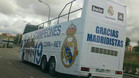 Autobus en el cual hubiera salido el Real Madrid a celebrar si hubiera conquistado la Copa del Rey