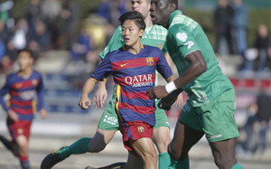 Lee, en su primer partido con el Juvenil A