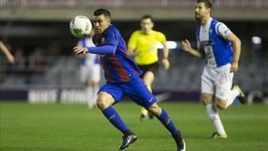 Dani Romera es uno de los goleadores del Barça B