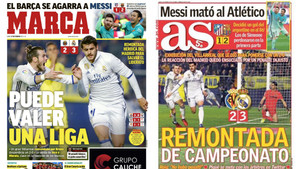 Las portadas de As y Marca tras el Villarreal - Real Madrid