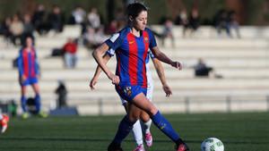 Jenny Hermoso marcó el quinto gol del Barça frente al Sporting Huelva