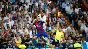 Jordi Alba tuvo una gran actuación frente al Real Madrid