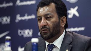 El presidente del Málaga, el jeque catarí Abdullah Al-Thani