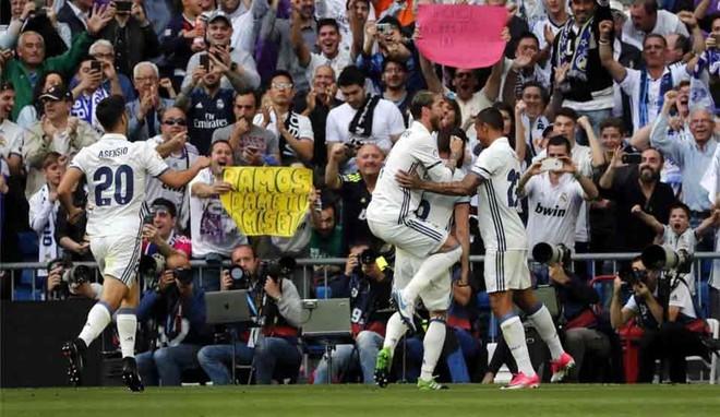 Real Madrid goleó 4-1 al Sevilla