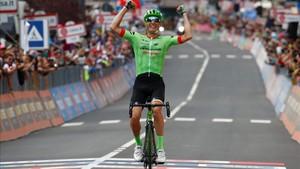 Pierre Rolland logró por primera vez una victoria de etapa en el Giro