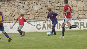 Juan David Fuentes juega en el cadete B del Barça