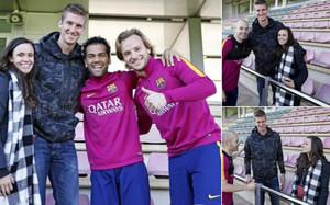 Doellman visitó al primer equipo del Barça